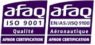 ISO9001 and EN9100 certifications